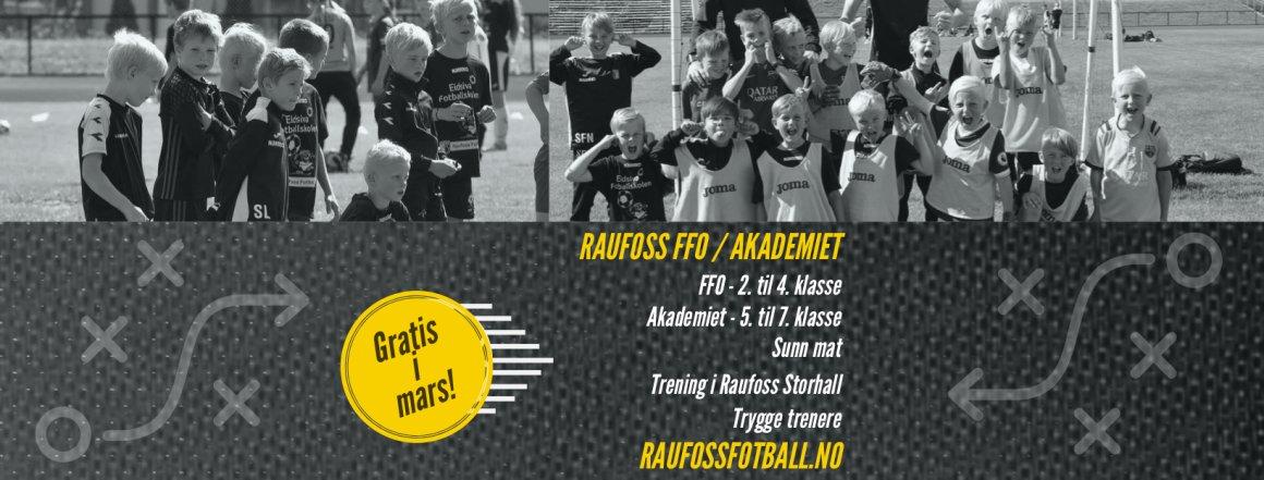 Kickstarter FFO og Raufoss Akademiet med gratis prøvemåned!